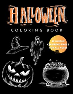 Halloween Coloring Book for Adults and Kids with 40 unique coloring pages: Unique coloring book with halloween theme, witc...