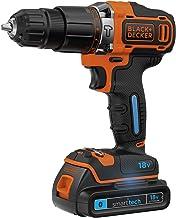 Black+Decker BDCHD18KST-QW Taladro percutor (18V y 1.5Ah de 2 velocidades, con cargador de 400 ma), 27 W, 18 V, 1 batería + maletín