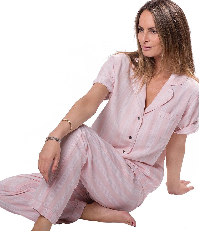 Naked Women's Double Gauze Cotton Striped Pajama Set