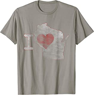 Wisconsin Home State T shirt I Love Wisconsin Vintage Tee