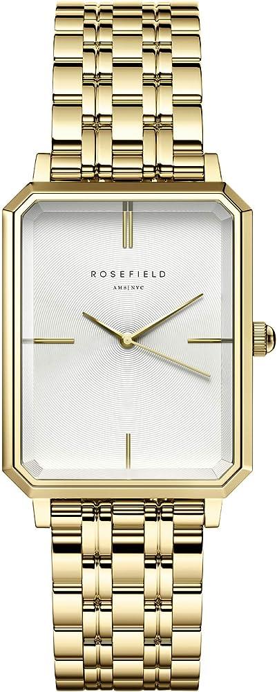 Rosefield the elles, orologio da donna, in acciaio inossidabile placcato oro OCWSG-O40