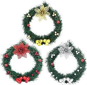 Décoration de Noël Guirlande de Noël Guirlande Bricolage à la Main - Guirlandes Fleurs Couronne de Noël Xmas à l'intérieur et l'extérieur Idéal Déco Noël pour Magasins, Bureaux, Sapin de Noël ou DIY