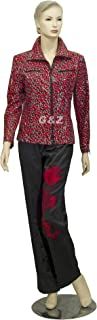 Women's Red Leopard Print Fashion Jackets (Spring/Fall) Size 1X