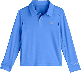 Coolibar UPF 50+ Boys' Long Sleeve Performance Polo - Sun Protective