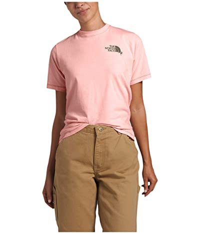 The North Face Dome Climb Short Sleeve Tee (Impatiens Pink/Burnt Olive Green) Women
