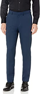 Kenneth Cole Unlisted Men's Heather Gab Slim Fit Flat Front Flex Waistband Dress Pant Dress Pants