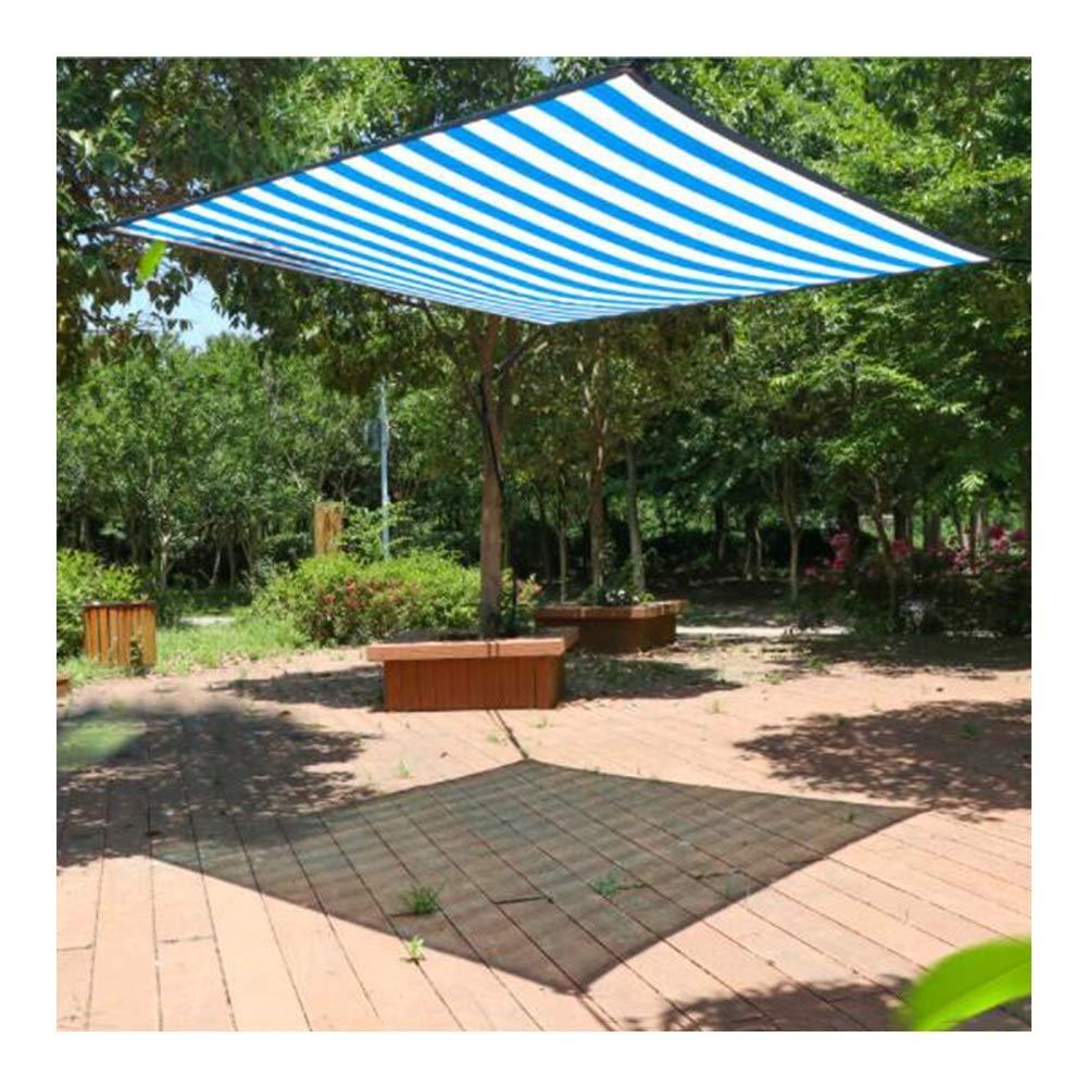 PENGFEI Toldo Vela De Sombra Bloqueador Solar Sombreado del Patio Enfriamiento De Verano A Prueba De Viento Anti-UV Tamaños Múltiples (Color : Blue, Size : 3m×3m): Amazon.es: Hogar