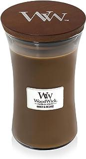 WoodWick - Vela aromática con aroma a parafina ámbar e incienso (aroma a Pluswick Innovation aroma a parafina ámbar e i...