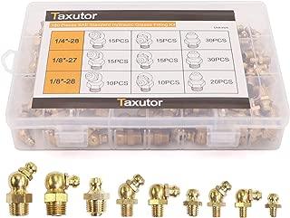 Taxutor Brass Hydraulic Grease Fittings SAE Standard 160-Piece Kit – 1/4