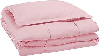 AmazonBasics Kid's Comforter Set - Soft, Easy-Wash Microfiber - Twin, Light Pink