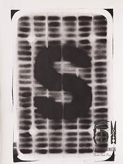 Letra S ABC Hort por Fabio De Minicis - Lienzo original 2/7-50 x 70 cm.