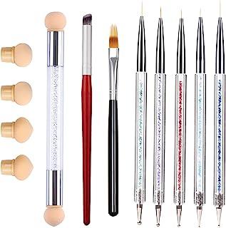 8 STKS Nail Art Borstels Set Ombre Nagelborstel Dotting Pen Nail Art Liner Borstels UV Gel Schilderen Acryl Nagelborstel S...