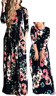mommy and me long sleeve maxi dresses