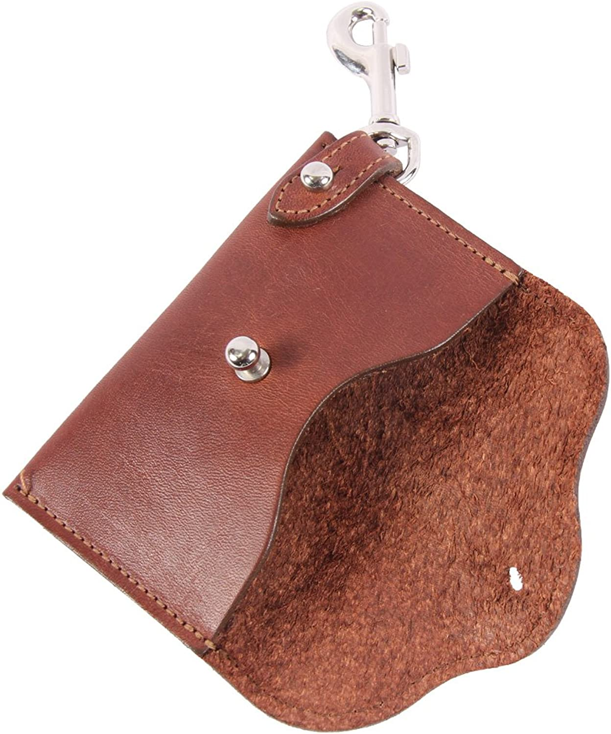 Leather Key Wallet Brown for Credit Cards Cash Snap USA Made