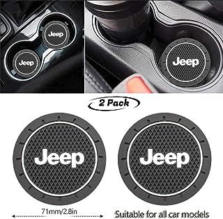 Compass Fasmov 6 Pack 2.75 inch Car Interior Accessories Anti Slip Cup Mat Jeep Grand Cherokee Patriot Wrangler