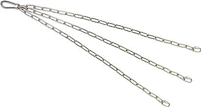 KAMERO Edelstahl Set Grillrost Aufhängung, für 80 cm Roste, 3 Ketten 90cm, V4A, rostfrei