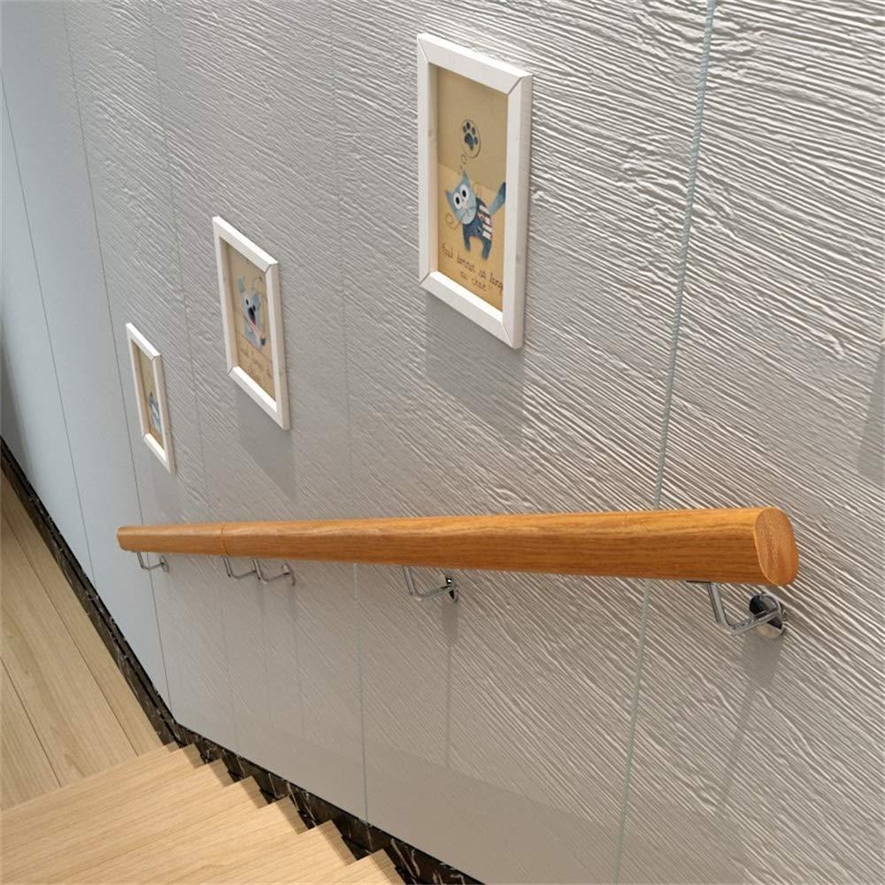 Size : 1ft 1ft-20ft Handrail -Complete Kit Home Kindergarten Old Man Indoor and Outdoor Villa Loft Hospital Corridor Solid Wood Railing Pine Anti-Slip Stair Handrail