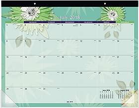 AT-A-GLANCE 2018-2019 Academic Year Desk Pad Calendar, Standard, 21-3/4 x 17, Flowers (5035-A8)