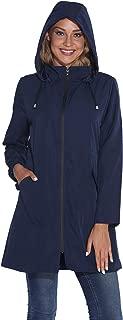 Women's Waterproof Raincoat Outdoor Hooded Windbreaker Jacket Casual Long Lightweight Jackets Coat