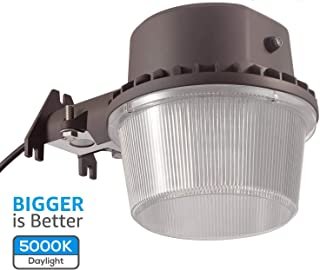 TORCHSTAR Dusk to Dawn Area Light with Photocell, 5000K Daylight Outdoor Security..