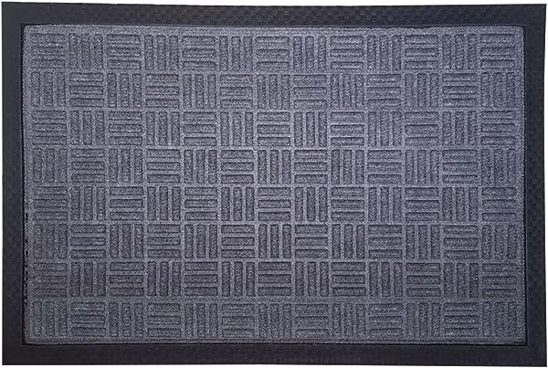 FOOTMATTERS SafetyCare Cross Hatch Rubber Doormat 24 X 16 Inches 1 Unit