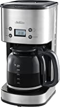 Sunbeam Drip Filter 12 Cup Electronic Coffee Machine, Stainless Steel
