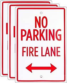 No Parking – Fire Lane Sign (3-Pack) – 18