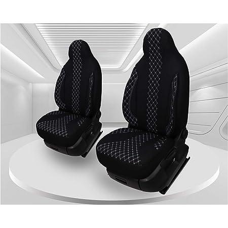 Seatcovers By K Maniac Sitzbezüge Vito W447 Elite Fahrersitz Doppelbank Zwei Armlehnen Standardsitze W447 T26 Schwarz Anthrazit Auto