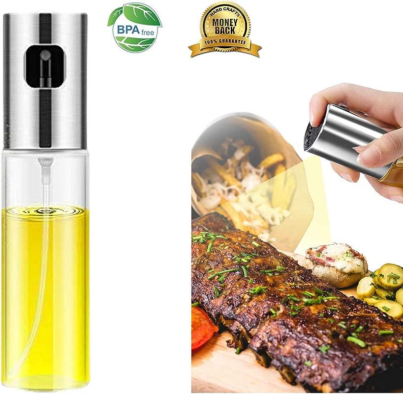 Olive Oil Sprayer Oil Sprayer Dispenser For Cooking Portable Oil Sprayer Dispenser Drip Free Spout Stainless Steel For BBQ Making Salad Baking Roasting Grilling Frying Kitchen