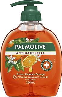 Palmolive Antibacterial Liquid Hand Wash Soap Orange 2 Hour Defence Pump 0% Parabens Recyclable, 250mL