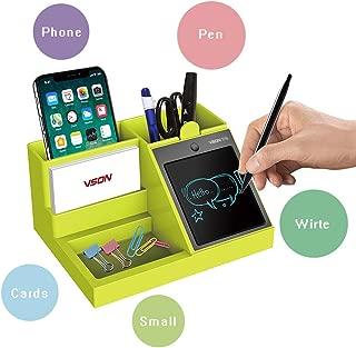 ペン立て、XRise デスクオーガナイザー、多機能卓上収納ケース、LCDタブレットが配置され、メモ機能が果たされる。日常生活やオフィス、学生生活に適用する。