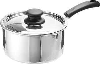 Raj Aluminum Sauce Pan with Lid, Silver-KSP00L