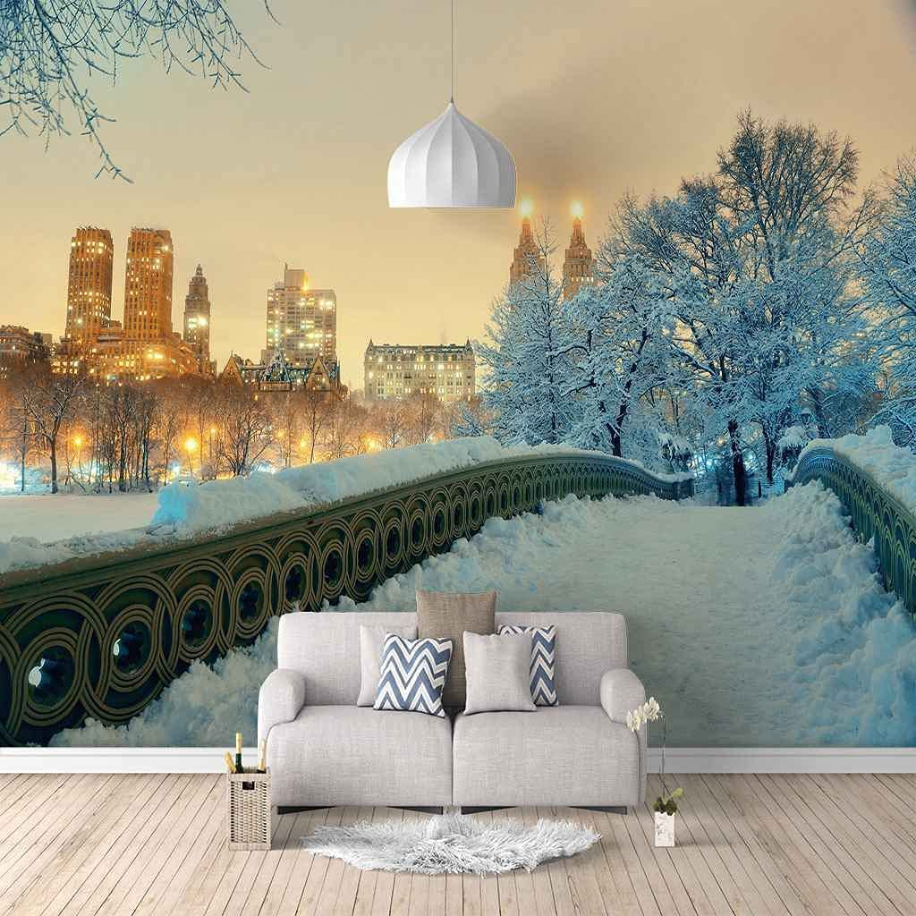 HWCUHL Mail order cheap Wall Stickers Popularity Kids Bedroom Urban White Snow Scene Canvas