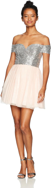 Bee Darlin Womens Off The Shoulder Sweetheart Dress Dress