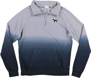 Pink Sweatshirt Ombre Quarter Zip Pullover