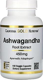 California Gold Nutrition Ashwagandha 450 mg - 180 Veggie Capsules