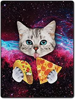 TSlook 40x50 Blankets Funny Cat Starry Pizza Eat...