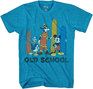 Boys' Mickey Mouse Donald Duck And Goofy Old School Surfing T-Shirt