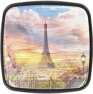 Toits de Paris avec la Tour Eiffel 4 PCS Tiroir de Porte Poignée, Bouton de Meubles, Boutons de Tiroir, Boutons de Porte, ...