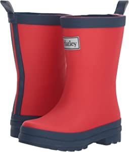 Red and Navy Rain Boots (Toddler/Little Kid)