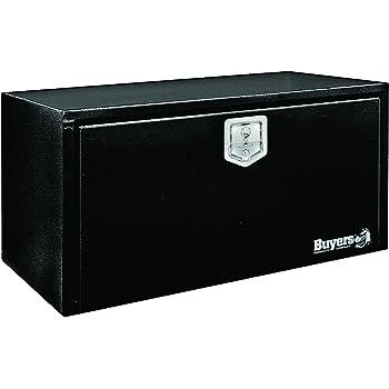 Buyers Products Black Steel Underbody Truck Box w/ T-Handle Latch (14x16x36 Inch)
