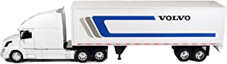 Newray Volvo Tractor and Trailer VN-780 1/32 Scale Pre-Built Model Semi Truck White