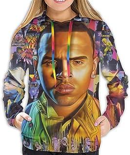 Chris Brown Fame Women Hoodies-Tops Long Sleeve Pocket Drawstring Sweatshirt with Pocket
