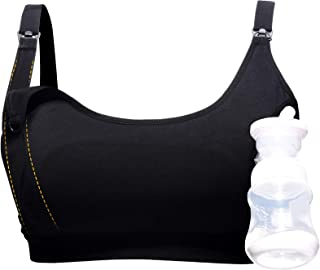 Hands-Free Nursing Bra Accessory, Strapless Pumping Bra Attachment by Momcozy - Pairs w/Clip and Pump Bras for Breast Pump...