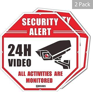 Letrero de Seguridad de Video, Paquete de 2 Alerta de Seguridad CCTV, Oct¨