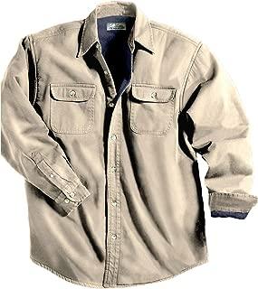 TRM Men's Cotton Tahoe Stonewashed Fleece Denim Shirt Jacket (10 Color, XS-6XLT)