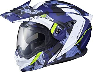 Scorpion EXO-AT950 Outrigger Adult Snowmobile Helmet with Electric Shield - Matte Blue/Small