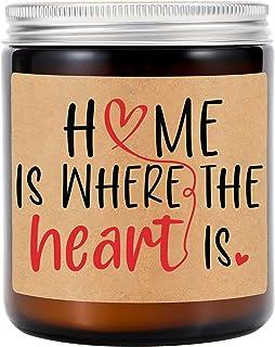 شموع معطرة برائحة اللافندر من جي إس بي واي - هدايا هووسورمينغ - المنزل حيث القلب - هدايا للنقل وإغلاق العقارات للمشتريين -...