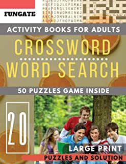 Crossword and Wordsearch books for adults: FunGate Activity books for adults Large Print | Crossword Word search Game and Solutions (Puzzle books for adults Large Print)