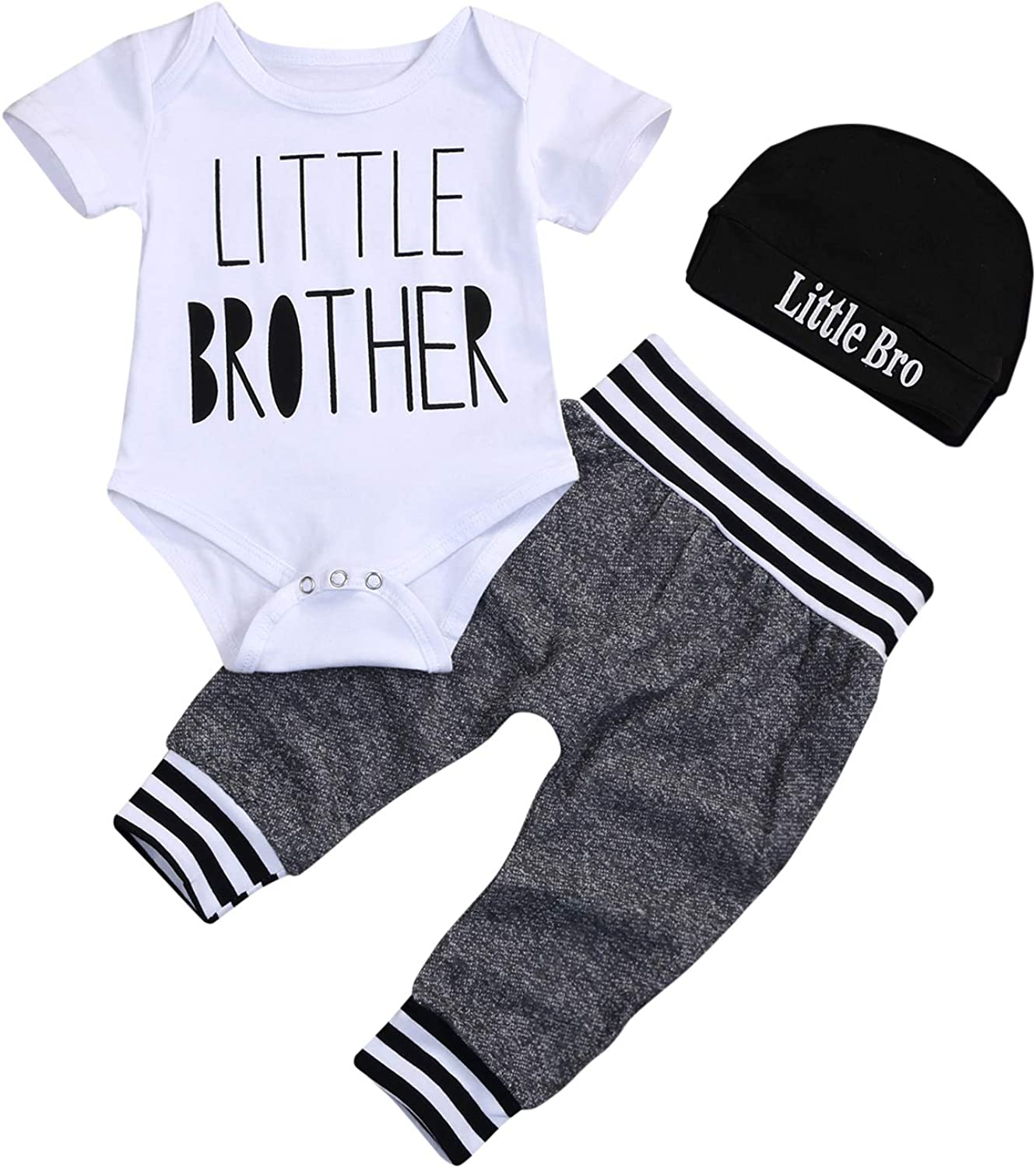Newborn Baltimore Mall Baby Boy Clothes Little Infant Letter Max 59% OFF Shor Print Brother